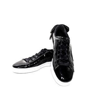 Puma NEW Black Patent Basketball Bow Sneakers 10
